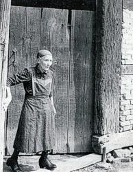 Anna Hempelmann die letzte Bewohnerin von Beiningshof