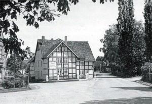Ende der Dorfstraße (Im Jahre 1972 abgerissen)