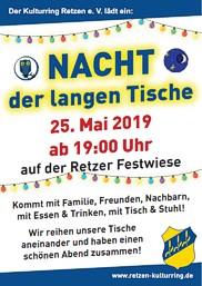 Nacht der langen Tische Retzen 2019 - Stadt Bad Salzuflen - Kreis Lippe